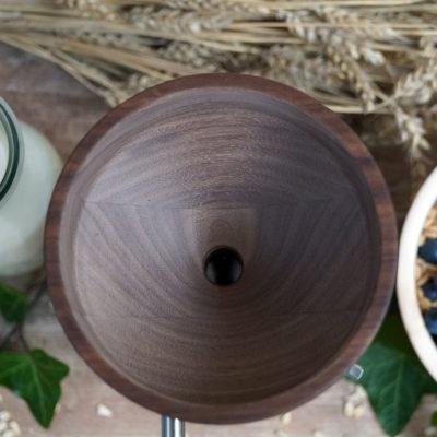fioccatrice di salisburgo in legno di noce tramoggia