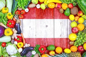 Fresh fruits and vegetables from Austria